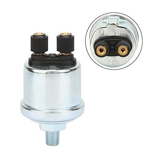 Öldrucksensor, 1/8 NPTF Bright Doppelkopfgewinde Autoöldrucksensor Passend für VDO 0-10bar