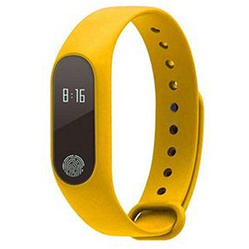 BTPDIAN Bracciale Smart Sport Step Energy Call promemoria Braccialetto Impermeabile Professionale Intelligente da Polso (Color : Yellow)