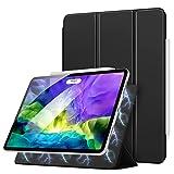 MoKo Hülle Kompatibel mit iPad Pro 11 2020 2. Generation / 2018, Schlanke Schutzhülle mit Magnetisch Befestigung & Ladung, Auto Schlaf/Aufwach Funktion für iPad Pro 11 2020/2018 - Schwarz