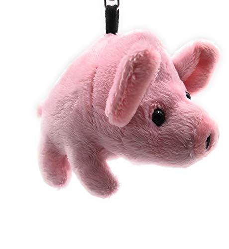 Onwomania Plüsch / Kuschel / Stoff Tier Schlüsselanhänger Schwein rosa 14 cm