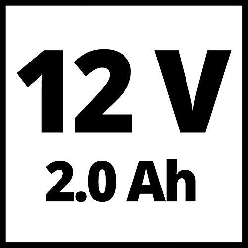 Einhell Cordless Impact Driver TE-CI 12 Li (90 Nm, Effortless Driving of Large/Long Screws, Short + Lightweight Design, LED Light, Hexagon Fitting, 2.0 Ah Rechargeable Battery + 45-Min Charger)