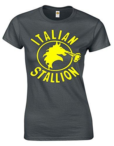 Crown Designs Italian Stallion Divertente Regalo per Donne E Ragazzi con Magliette Montate