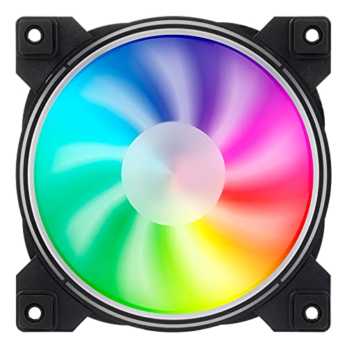 GeekerChip Carcasa del Ordenador Ventilador,Ventilador Silencioso,Ventilador de 120 mm con RGB,Adecuado para Caja PC,Impresora 3D etc