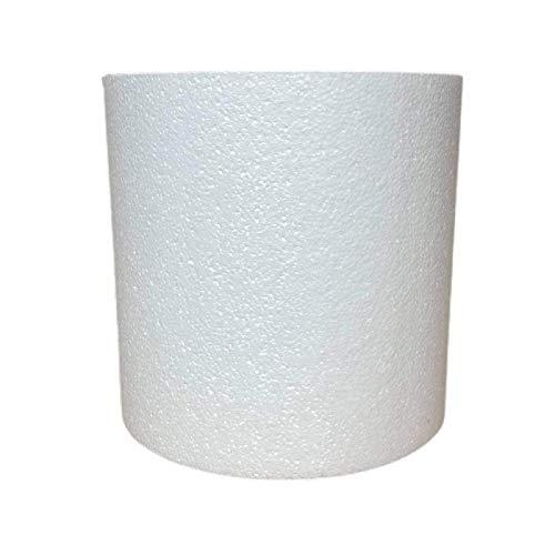 Lealoo Cylindre en polystyrène 30 x 30 cm, Colonne en Styropor Blanc densité Pro, 28 kg/ m3