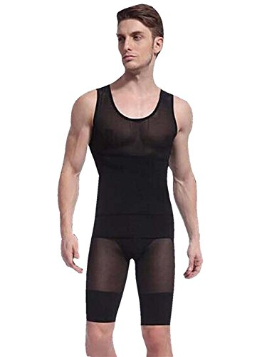 OSAYES Camiseta Faja Abdominal Entallada Moldeadora Adelgazante para Hombre
