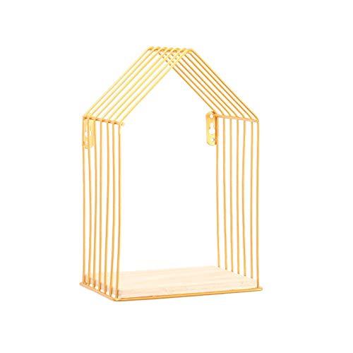 HJW Praktische opbergrek Amerikaanse eenvoudige huistype drijvende plank rek voor woondecoratie, woondecoratie muur bloempot wekker decoratie plank display opslag voor woonkamer 1Huiyang-01020, Sm