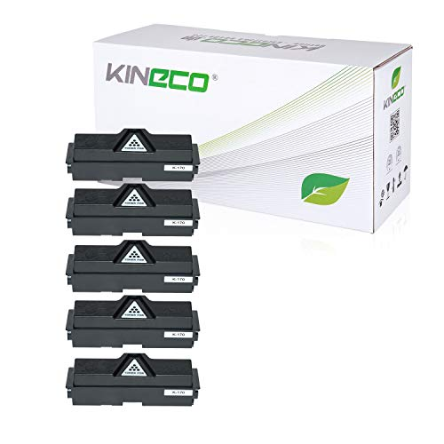 5 Toner kompatibel mit Kyocera TK170 für Kyocera Ecosys P2135DN FS-1320DN FS-1370DN - TK-170 / 1T02LZ0NL0 - Schwarz je 7.200