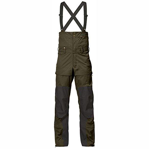 FJÄLLRÄVEN Keb Eco-Shell Bib Trousers Pantalon Hardshell pour Homme Vert Olive foncé Taille XL