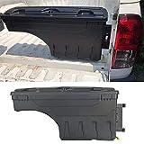 DOOD Camion Universal Cassetta degli Attrezzi Vuota Plastica con Vassoio Removibile Tool Box Organizer per Ranger Wildtrak XLT T8 T7 T6, Hilux,Triton L200,NP300,DMAX 75 x 35 x 21 CM (Nero)