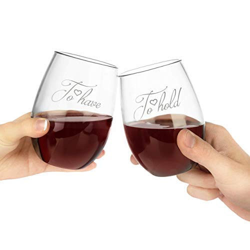 To Have and To Hold Wine Glass Set with Wine Bottle Opener and Stopper