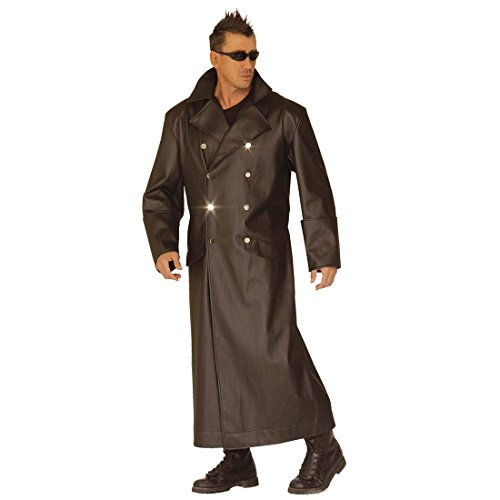 NET TOYS Kostüm General Matrix Offiziersmantel Uniform Offizier Mantel Fasching Karneval Ledermantel Gr L 52/54