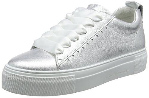 Kennel und Schmenger Damen Big Sneaker, Silber (Light Silver Sohle Weiß), 38 EU