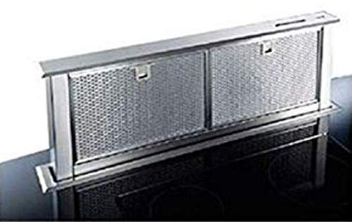 Broan HTM 60I Dunstabzugshaube, Schublade, Arbeitsplatte 60 cm, aus Edelstahl mit Edelstahl-Fettfilter, Abluft außen