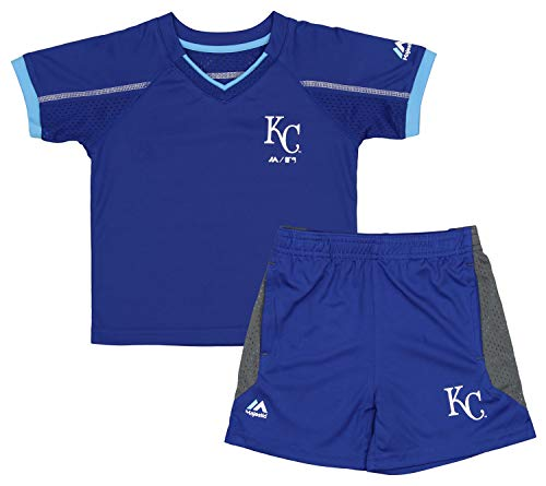 Outerstuff MLB Toddlers Kansas City Royals Legacy Shorts Set, 4T