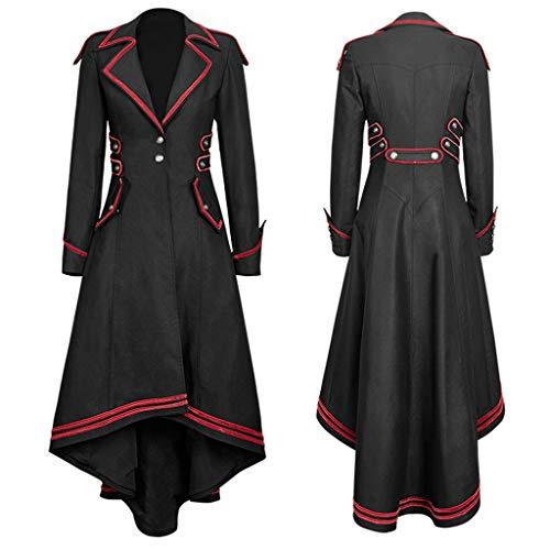 Great Deal! Women's Gothic Tailcoat Jacket,Ladies Steampunk Jacket Tuxedo Suit Coat Victorian Costum...