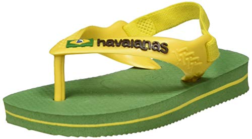 Havaianas HAV. BABY BRASIL LOGO II, Tongs Garçon Unisex Kinder, Vert (Green Bamboo), 19 EU