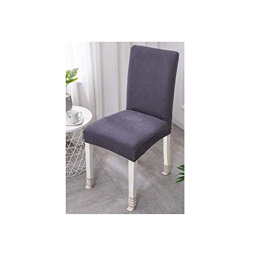 REYG Velvet Stretch Dining Chair Schonbezüge - Spandex Plüsch Kurze Stuhlbezüge Solide Große Esszimmer Stuhl Protector Home Decor Set Von 4 Schwarz,Grey