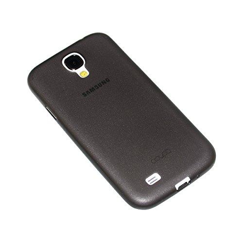 doupi UltraSlim Custodia per Samsung Galaxy S4, Satinato fine Piuma Facile Mat Semi Trasparente Cover, Nero