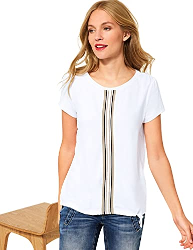 Street One Damen 316392 T-Shirt, White, 40