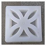XIAOQBH Molde De PavimentacióN 30cm clásico Simple Forma de la Curva del diseño Floral de la Plaza Fuerte de la Textura Gruesa de hormigón del pavimento del Molde Moldes Hormigon Impreso