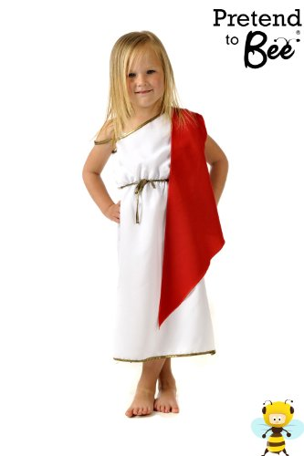Garçons / Filles costume romain ou grec empereur / impératrice Déguisement 7-9 ans [Jouet]