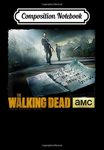 Composition Notebook: The Walking Dead New World Needs Rick Grimes, Journal 6 x 9, 100 Page Blank Lined Paperback Journal/Notebook