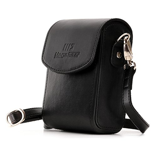 MegaGear Leather Camera Case with Strap compatible with Panasonic Lumix DC-ZS80, DC-ZS70, DMC-LX10, DMC-ZS60, DMC-ZS100