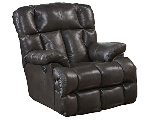 Catnapper Power Lay Flat Chaise Recliner in Chocolate Finish