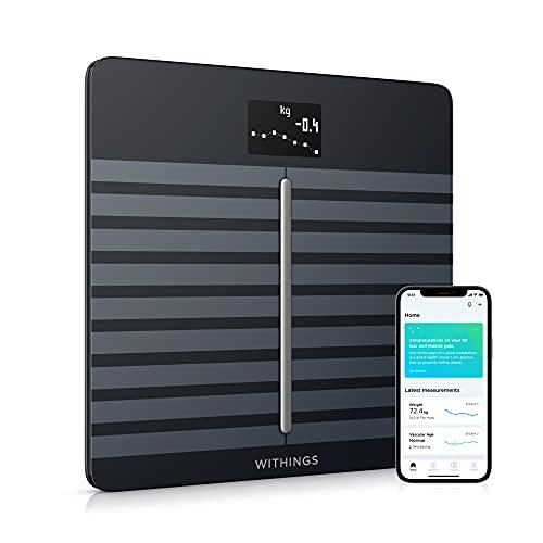 Withings Body Cardio - Bilancia Wi-Fi con Indicazione Dello Stato di Salute del Cuore e della Composizione Corporea, Nero