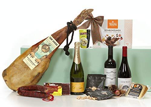Lotes, Cestas y Regalos, Cesta de Navidad con Jamón Lote Gourmet