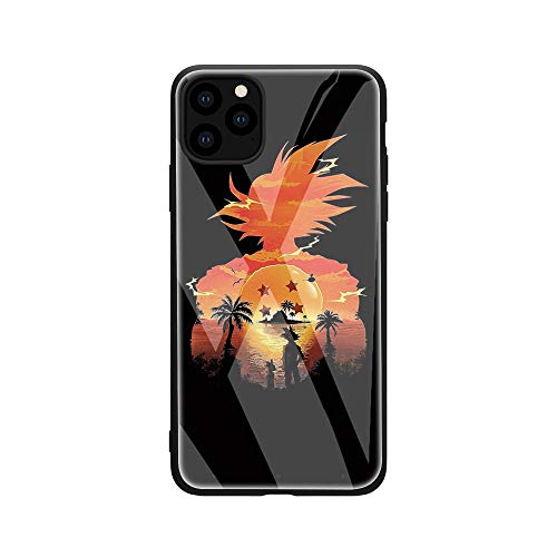 FUTURECASE Funda para teléfono móvil compatible con iPhone 7 8 SE 2020 12 Mini Pro 12Pro Max Anime de cristal templado Dragon Ball Z DBZ Manga Cover (5, iPhone 12 Pro Max)