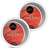 Last Confection Juego de 2 moldes redondos para tartas – 10 x 5 cm de profundidad de aluminio