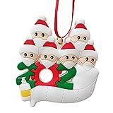 WAPAG Christmas Tree Ornaments, Christmas Ornaments Family of 1-7, DIY Family Name Christm...