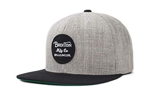 Brixton Cap WHEELER Snapback  Light Heather Grey/Black, One Size,