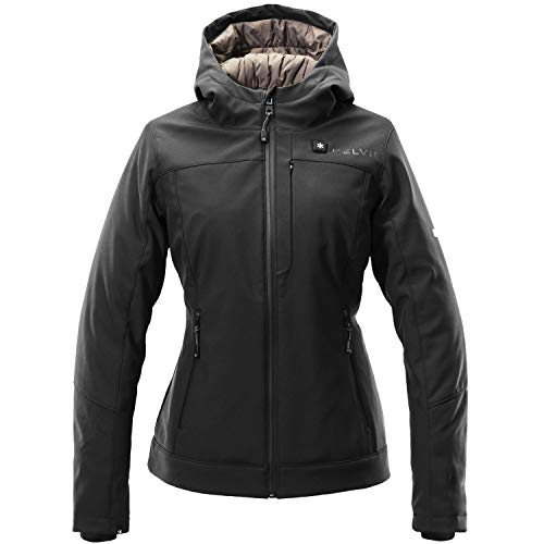 Kelvin Coats Heated Jacket for Women - 10Hr Battery, 5 Heat Zones - Fullerton, Black, Large