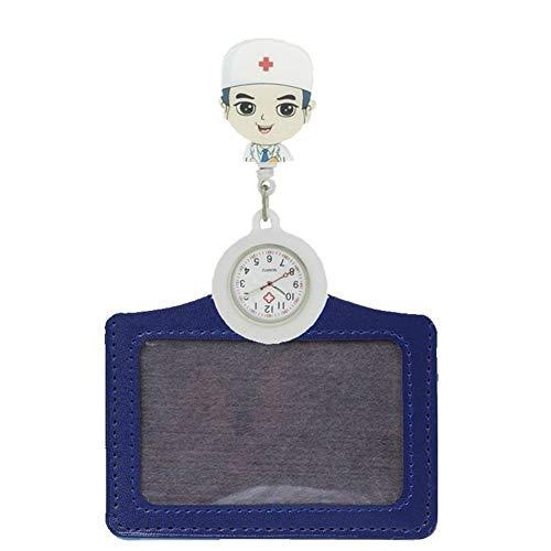 Mode Cartoon Caoutchouc infirmière rétractable Montres de Poche Dames Femmes Docteur Badge avec Bobine Porte-Carte Nom pour Montres de Poche Nurse Doctor (Color : 2)