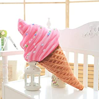 eSunny Lifelike Plush Ice Cream Cone Large Stuffed Toy Kids Huggable Food Pillow Summer Decorative Plush Pillow Bed Chair Sofa Must Have Tools Gift Box The Favourite Superhero Classroom