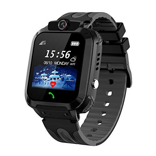Smartwatch per Bambini, IP68 Impermeabile Orologio Smart Phone LBS Anti-perso con Chat Vocale Sveglia SOS Gioco Fotocamera, Regalo Ragazzo e Ragazza