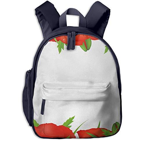 Kinderrucksack Gartenarbeit Beetpflanzen Grenzboom Babyrucksack Süßer Schultasche für Kinder 2-6 Jahre