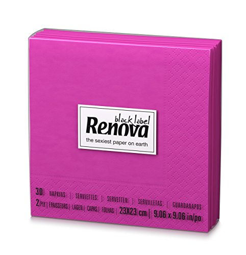 Renova Papierservietten, Cocktail Fuchsia – 30 Servietten