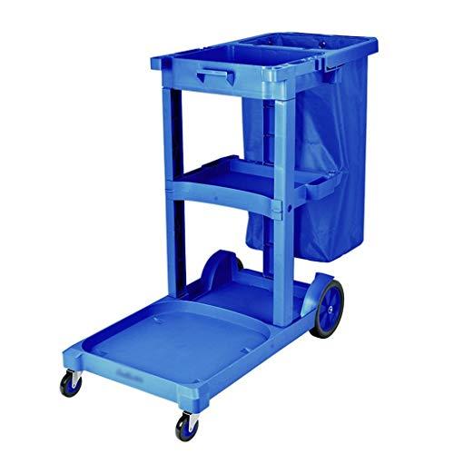 Voiture polyvalente de nettoyage, taille 90.5 * 46.3 * 72.5CM de trolley de compensation de voiture de service d'hôtel de trolley de nettoyage (Color : Blue, Size : 110 * 50 * 70CM)