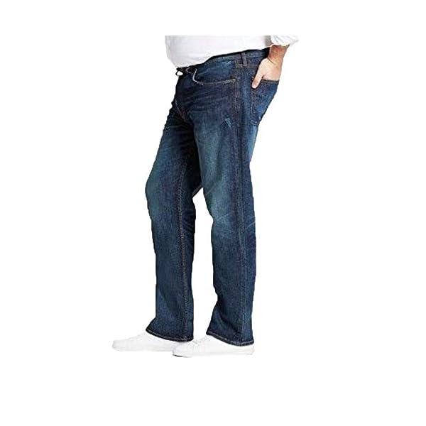 Men's Big & Tall Straight Fit Jeans - Dark Denim Wash - 4