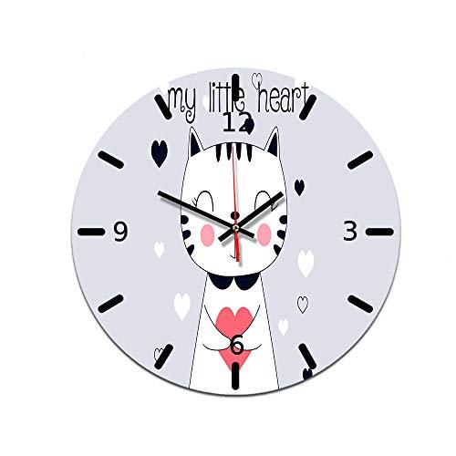 LUOYLYM Reloj Decorativo Nórdico Reloj De Pared Reloj Decorativo De Acrílico Movimiento Silencioso Reloj con Espejo Reloj De Pared para Sala De Estar Ctt-20 28CM