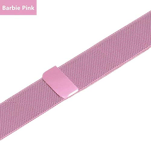NO BRANDED Bands For Watch Strap Series 5 4 3 Milanese Loop Iwatch Band 44mm 40mm 42mm 38mm Stainless Steel Bracelet Barbiepink