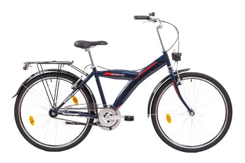 F.lli Schiano Chicago Bicicleta de Ciudad, Unisex-Adult, Azul, 26'