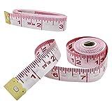TTBD Coser Tiras de Cinta de medición de la Regla de Tela Suave Personalizados Medida Medidas Costura de Cinta métrica de medición Plana,2M