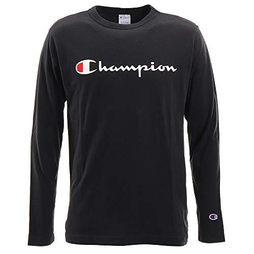 [チャンピオン] ロングTシャツ 長袖Tシャツ 綿100% 定番 スクリプトロゴプリントロングスリーブTシャツ C3-Q401 メンズ ブラック M
