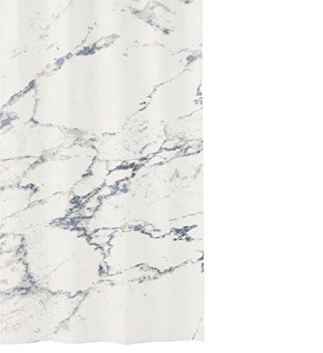 Kleine Wolke Marble Duschvorhang, Polyester, anthrazit, 180 x 200 cm