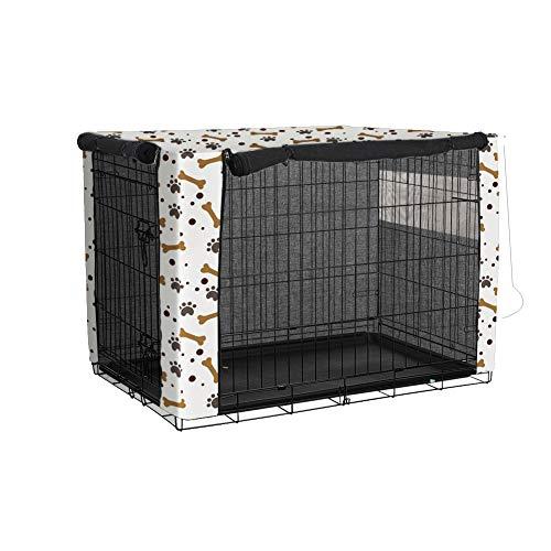 Cubierta para cajón de perro Minjie, duradera a prueba de viento, cubierta para perrera de mascotas proporcionada para caja de alambre para protección interior y exterior, fácil de instalar (M)