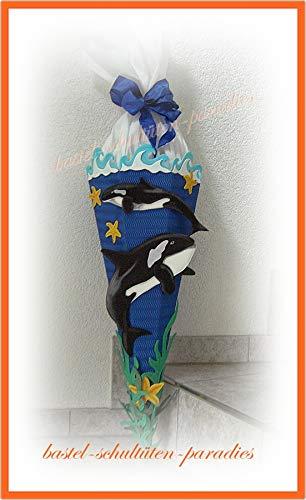 Schultüten Bastelset Orca blau